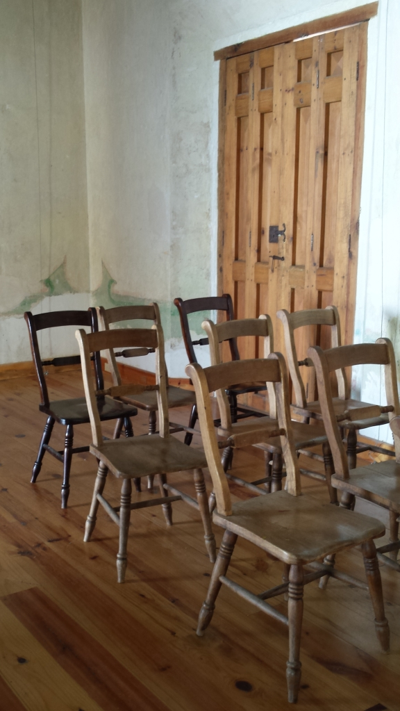 Chairs at La Enseñanza, a former normal school in San Cristóbal de las Casas, Chiapas. Photo by Rachel Grace Newman, 2015.